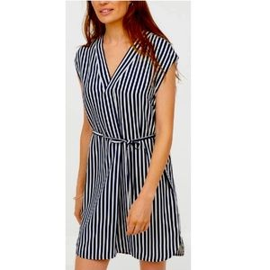 Navy and white striped dress!